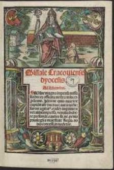 Missale Cracoviensis dyocesis. - Var. A