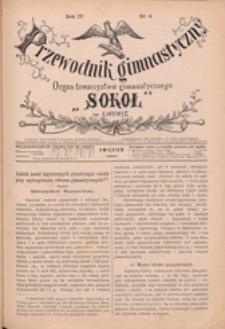 """Przewodnik Gimnastyczny : organ Towarzystwa Gimnastycznego """"Sokół"""" we Lwowie, 1884 R. 4 nr 4"""