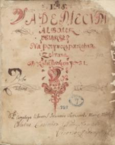 Vademecum albo też xiążka na porywczą potrzebna, zebrana w roku pańskim 1631. [Zbiór kazań]