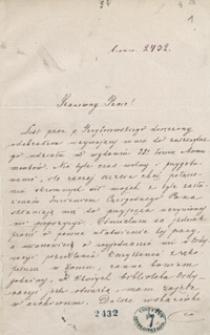 [Korespondencja Augusta Bielowskiego. Listy od różnych osób z lat 1842-1876. Lit. P-Siem.]