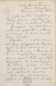 [Listy Michała E. Andriollego do Władysława Bełzy z lat 1881-1891]