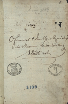 Diarius rerum in extreris nationibus visarum [...] autore J. de Ługi Ługowsky, [...] scriptus in exteris ab 1639-1643 [oraz różne notatki]
