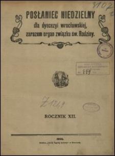 Posłaniec Niedzielny dla Dyecezyi Wrocławskiej. R. 12, 1906, nr 12