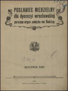Posłaniec Niedzielny dla Dyecezyi Wrocławskiej. R. 13, 1907, nr 22