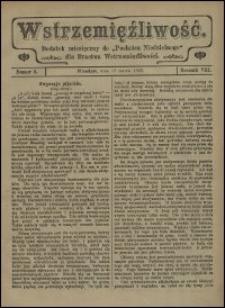 """Wstrzemięźliwość : dodatek miesięczny do """"Posłańca Niedzielnego"""" dla Bractwa Wstrzemięźliwości. R. 8 (1907), nr 2"""
