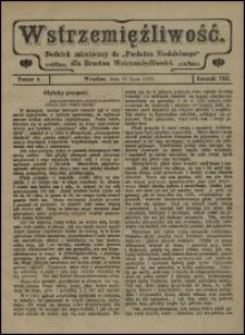 """Wstrzemięźliwość : dodatek miesięczny do """"Posłańca Niedzielnego"""" dla Bractwa Wstrzemięźliwości. R. 8 (1907), nr 4"""