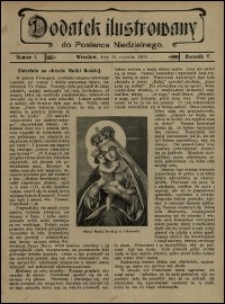 Dodatek Ilustrowany do Posłańca Niedzielnego. R. 5 (1908), nr 1