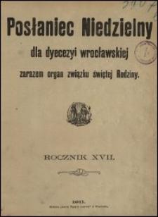 Posłaniec Niedzielny dla Dyecezyi Wrocławskiej. R. 17, 1911, Spis treści