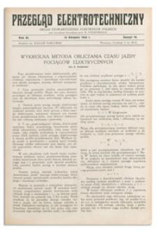 Przegląd Elektrotechniczny. Rok XI, 15 Sierpnia 1929, Zeszyt 16