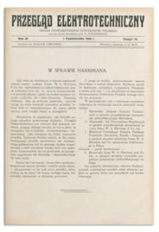 Przegląd Elektrotechniczny. Rok XI, 1 Października 1929, Zeszyt 19