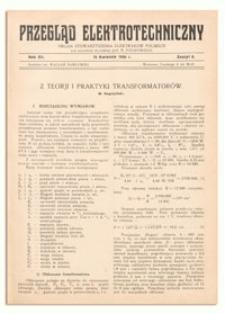 Przegląd Elektrotechniczny. Rok XII, 15 Kwietnia 1930, Zeszyt 8