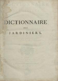 Dictionnaire Des Jardiniers [...]. T. 8