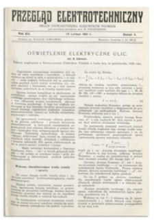 Przegląd Elektrotechniczny. Rok XIII, 15 Lutego 1931, Zeszyt 4
