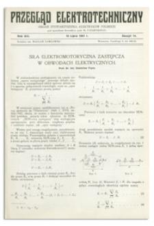 Przegląd Elektrotechniczny. Rok XIII, 15 Lipca 1931, Zeszyt 14