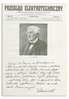 Przegląd Elektrotechniczny. Rok XIII, 1 Grudnia 1931, Zeszyt 23