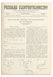 Przegląd Elektrotechniczny. Rok XV, 15 Kwietnia 1933, Zeszyt 8