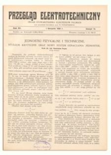 Przegląd Elektrotechniczny. Rok XV, 1 Sierpnia 1933, Zeszyt 15
