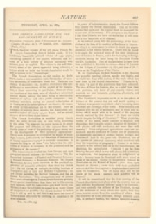 Nature : a Weekly Illustrated Journal of Science. Volume 9, 1874 April 30, [No. 235]