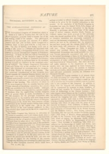 Nature : a Weekly Illustrated Journal of Science. Volume 10, 1874 September 10, [No. 254]