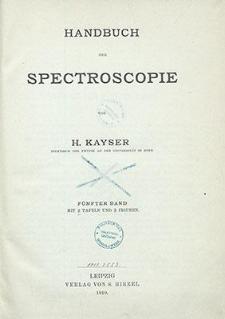 Handbuch der Spectroscopie. 5. Bd