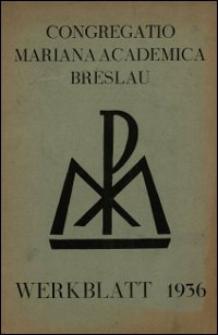 Werkblatt 1936 / Congregatio Mariana Academica Breslau