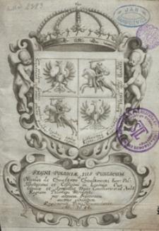 Regni Poloniae Ius Publicum. - Per alteram Editionem auctius exhibitum