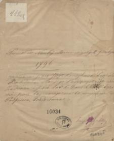 Pismo do nauky dzieci wiejskjch prostych 1796 napisana przez JW. konsyliarza Leopolda Bochdana dla jego poddanych we wsi Zadwórzu i przez lat kilka w szkółce tejże wsi przez trzymanego na to umyślnie profesora tradowana