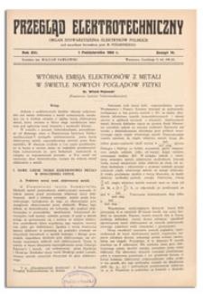 Przegląd Elektrotechniczny. Rok XVI, 1 Października 1934, Zeszyt 19
