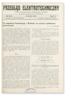 Przegląd Elektrotechniczny. Rok XVIII, 15 Czerwca 1936, Zeszyt 12