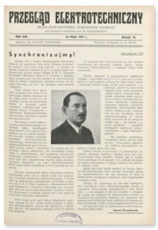 Przegląd Elektrotechniczny. Rok XIX, 23 Maja 1937, Zeszyt 10
