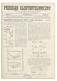 Przegląd Elektrotechniczny. Rok XIX, 15 Grudnia 1937, Zeszyt 24