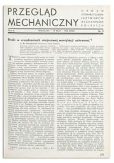 Przegląd Mechaniczny. Organ Stowarzyszenia Inżynierów Mechaników Polskich, T. 2, 10 maja 1936, nr 9