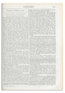 Nature : a Weekly Illustrated Journal of Science. Volume 16, 1877 October 25, [No. 417]