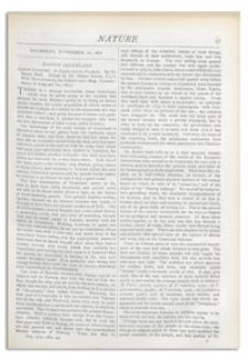 Nature : a Weekly Illustrated Journal of Science. Volume 17, 1877 November 22, [No. 421]
