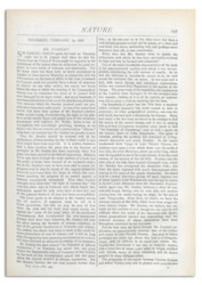 Nature : a Weekly Illustrated Journal of Science. Volume 17, 1878 February 14, [No. 433]