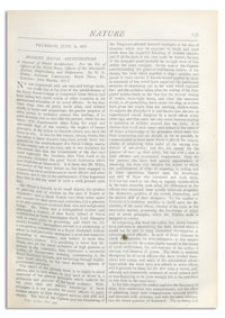 Nature : a Weekly Illustrated Journal of Science. Volume 18, 1878 June 6, [No. 449]
