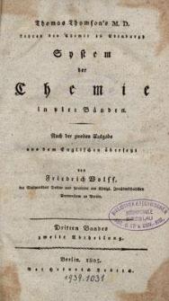 Thomas Thomson's System der Chemie : in vier Bänden. Bd. 3, Abt. 2