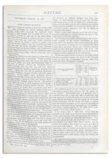 Nature : a Weekly Illustrated Journal of Science. Volume 18, 1878 August 15, [No. 459]