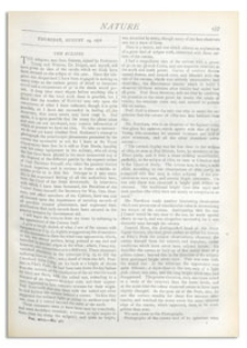 Nature : a Weekly Illustrated Journal of Science. Volume 18, 1878 August 29, [No. 461]