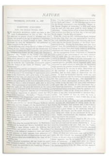 Nature : a Weekly Illustrated Journal of Science. Volume 18, 1878 October 31, [No. 470]