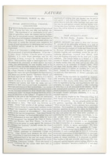 Nature : a Weekly Illustrated Journal of Science. Volume 19, 1879 March 20, [No. 490]
