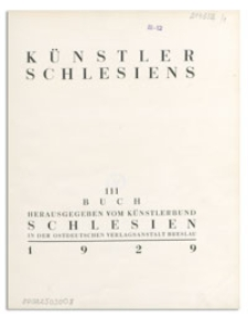 Künstler Schlesiens. Buch 3