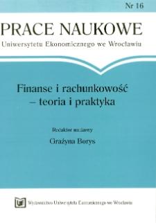 Zasady funkcjonowania rezerw na straty kredytowe w argentyńskich bankach. Prace Naukowe Uniwersytetu Ekonomicznego we Wrocławiu, 2008, Nr 16, s. 273-288