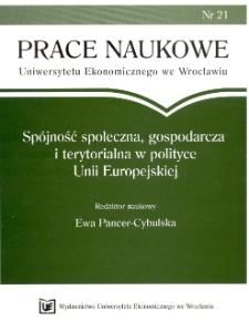 Pomoc publiczna dla przedsiębiorców w realizacji celów polityki spójności społeczno-gospodarczej. Prace Naukowe Uniwersytetu Ekonomicznego we Wrocławiu, 2008, Nr 21, s. 375-381