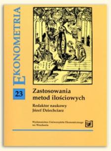 Metody testowania hipotez o liczbie składników mieszanki rozkładów. Prace Naukowe Uniwersytetu Ekonomicznego we Wrocławiu, 2009, Nr 37, s. 104-119