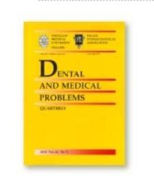 Dental and Medical Problems, 2012, Vol. 49, nr 1