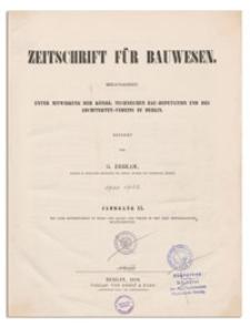 Zeitschrift für Bauwesen, Jr. XX, 1870, H. 1-3