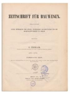 Zeitschrift für Bauwesen, Jr. XXIV, 1874, H. 1-2