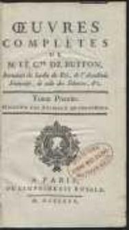 Oeuvres Complètes De [...] Buffon [...] : Histoire Des Animaux Quadrupèdes [T. 1]