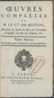 Oeuvres Complètes De [...] Buffon [...] : Histoire Des Animaux Quadrupèdes [T. 6]